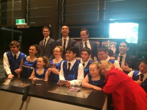 With Special Olympic Dancers